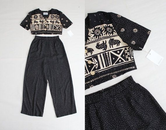 crop top and pants / crop top pants set / ethnic by foundpretty