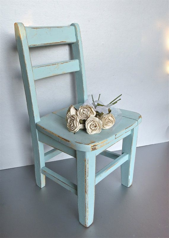 Vintage Child's Chair, Blue Chair, Old Chair, Rustic, Farmhouse, Shabby and Chic, Cottage Decor, Small Chair, Oak, Wood