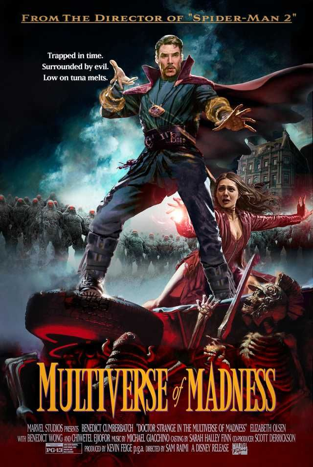 Doctor Strange In The Multiverse Of Madness Poster Inspired By Sam Raimi S Army Of Darkness Doctor Strange Fantastic Four Movie Marvel Comic Universe