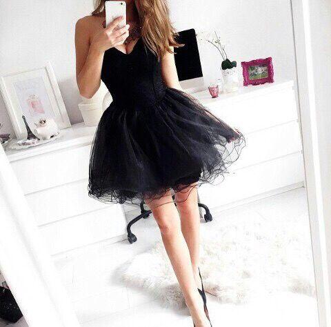 Custom Made Black Sweetheart Neck Short Prom Dresses, Short Black Homecoming Dresses #prom #dress #black #short #dresses #blackdress #shortdress #homecoming #cocktail
