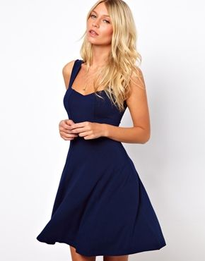 ASOS Sleeveless Skater Dress With Sweetheart Neck! CLASSY and so easy to wear! - only 20 pounds