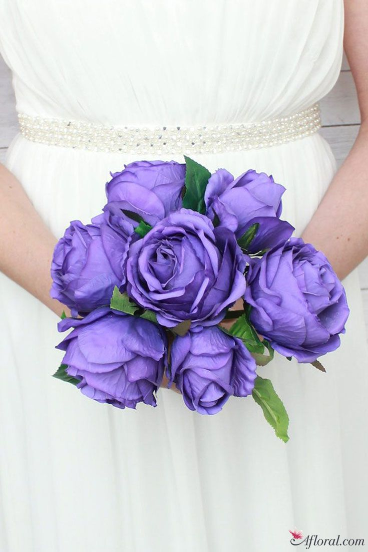 Silk Rose Bouquet in Violet Purple - Pantone's Color of the Year 2018
