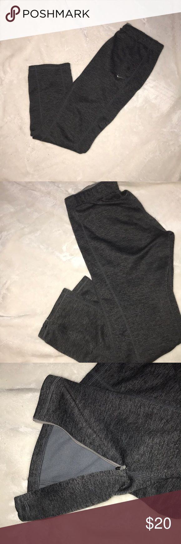 Nike joggers Grey nike jogger pants very comfortable frabric theres a zipper on the bottom of the pants that can open Nike Pants Track Pants & Joggers