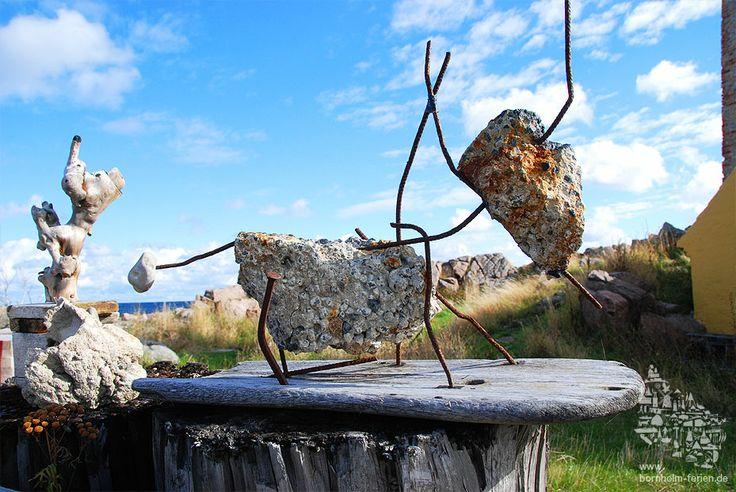 Betonskulptur am Hafen von Allinge, Insel Bornholm #skulptur #galerie #allinge #insel #bornholm