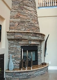 Corner fireplace | For the Home | Pinterest | House