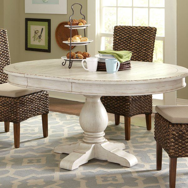 With Its Round Top And Hand Chiseled Grooves This Pedestal Table Creates A Beautiful Setting For Small Dining Table In Kitchen Dining Room Table Dining Table