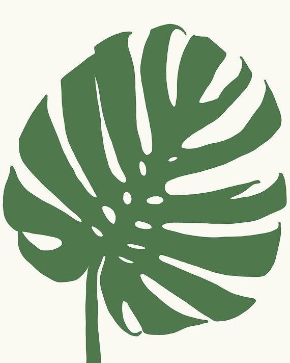 Fine Art Print.  Tropical Plant Leaf.  January 8 by joreyhurley, $35.00