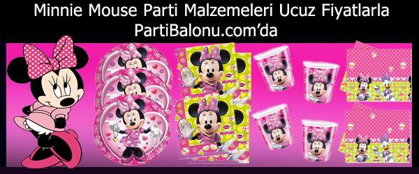 Minnie Mouse Parti Malzemeleri Disney tarafından çizilmiş olan Pembe renkleriyle ile tüm kız çocukların sevgilisi haline gelen Minnie Mouse tüm ürünleri sitemizde. Minnie Mouse Parti Konsepti ile yapacağınız çocuklarınızın doğum günü partilerinde sizlere lazım olan tüm Minnie Mouse parti malzemelerini veya Minnie Mouse doğum günü süslerini Parti Balonu'nda bulabilirsiniz.