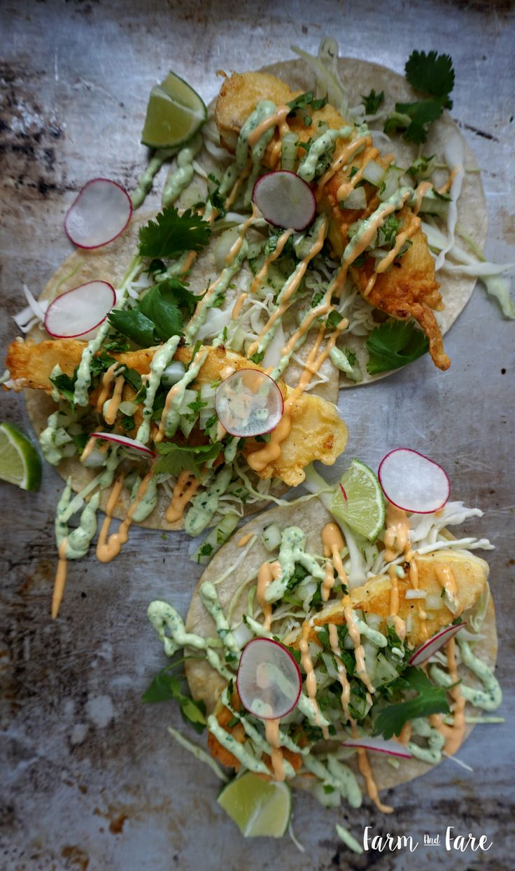 I am a sucker for anything in a corn tortilla, but especially fish! Fresh caught halibut lightly pan fried with crunchy cabbage, cilantro and onions, crisp radishes, sriracha aioli and cilantro avocado sauce makes this taco extra delicious. I came up with this recipe after living in San Diego and tasting some of the best fish tacos …