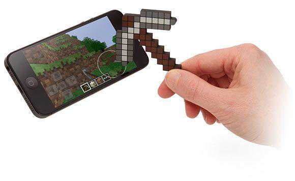 Isso é legal do dia: Caneta stylus com o formato da Picareta do game Minecraft