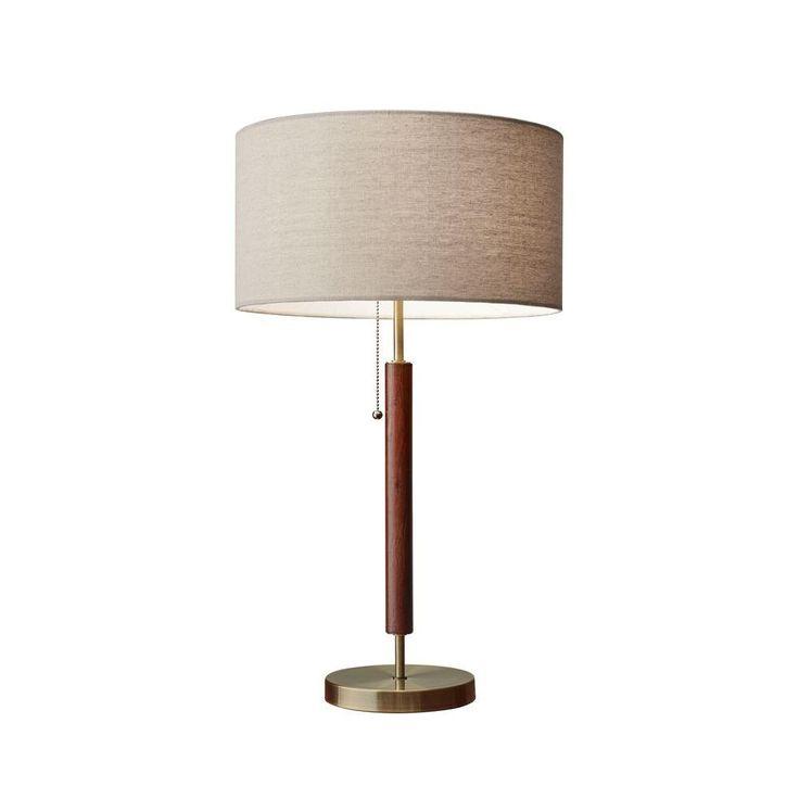 Adesso Hamilton 26 in. Brass Table Lamp