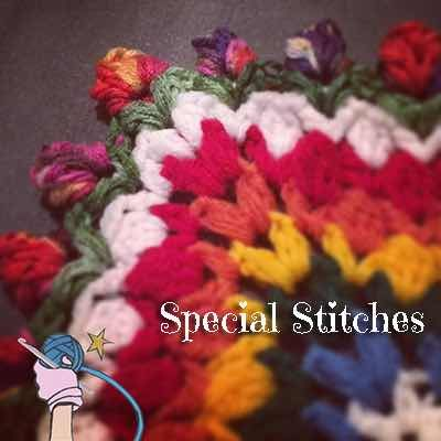 Garden Romp Crochet Along 2017 Stitches - A list of the special stitches used in my 2017 Garden Romp Crochet Along. Review these stitches before starting