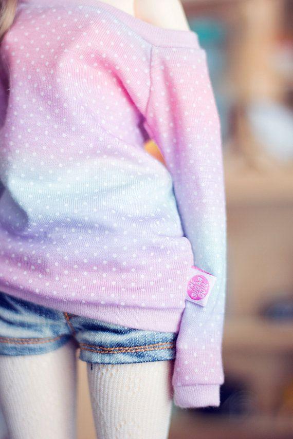 Gradient Dots sweater for MSD size bjd dolls Unoa by sugardollshop