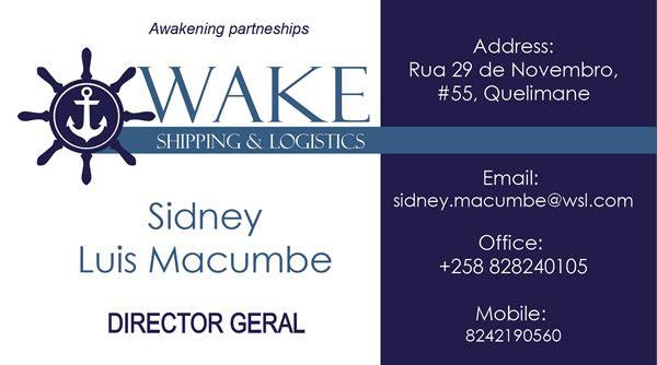 Business Card Design - WAKE Shipping & Logistics (Mozambique) by Design So Fine