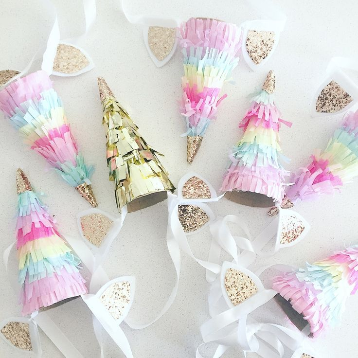 Image of Unicorn horn party hat