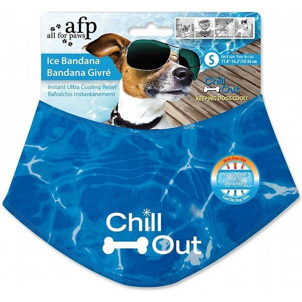 All For Paws Chill Out Ice Dog Bandana Small In 2020 Dog Cooling Mat Dog Behavior Puppy Paws