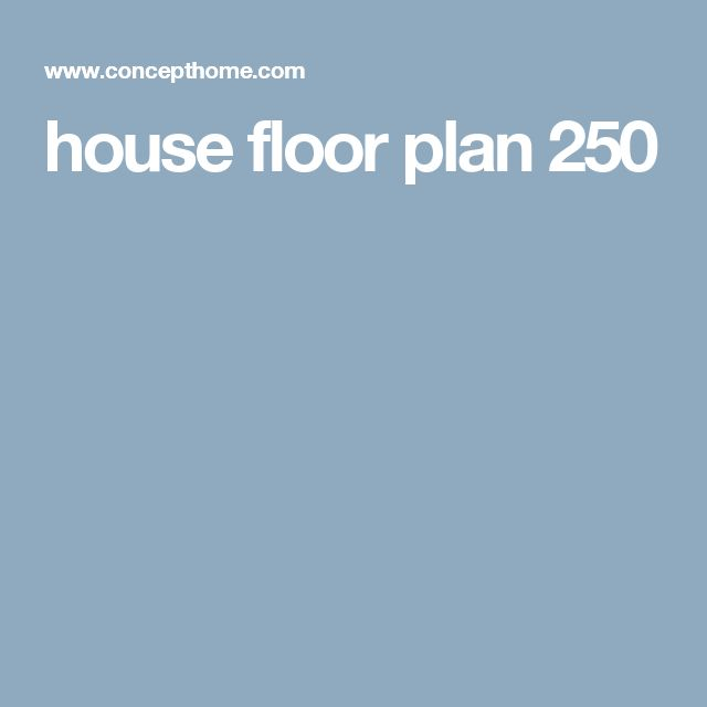 house floor plan 250