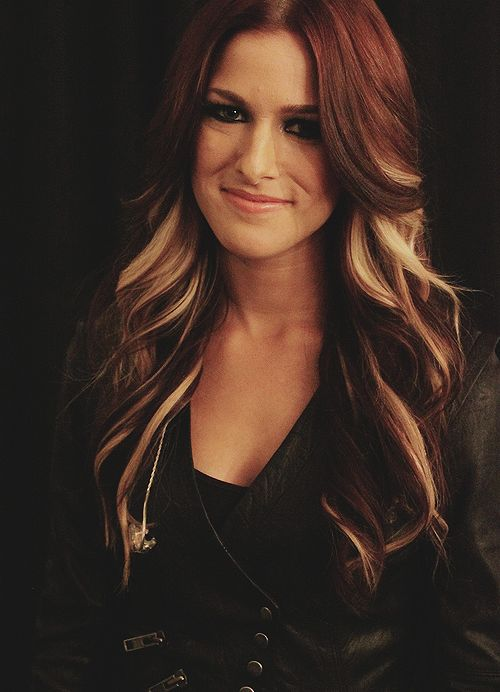 cassadee pope 2013 - Love her hair...just for me not red...do natural dark brown with same highlight strands
