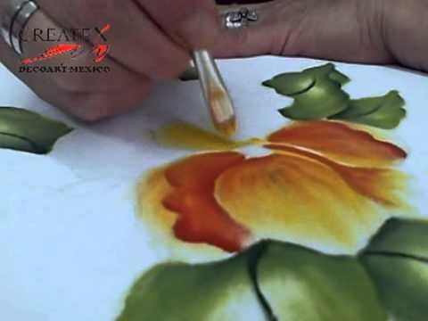 PINTANDO TELA TUTORIAL CREATEX - YouTube