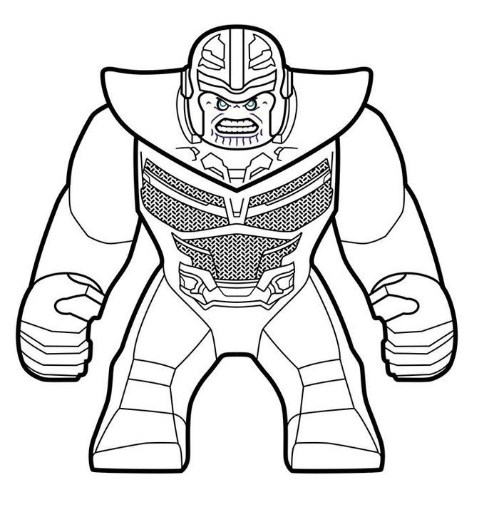Lego Marvel Coloring Pages Thanos In 2020 Lego Coloring Pages Lego Coloring Superhero Coloring Pages