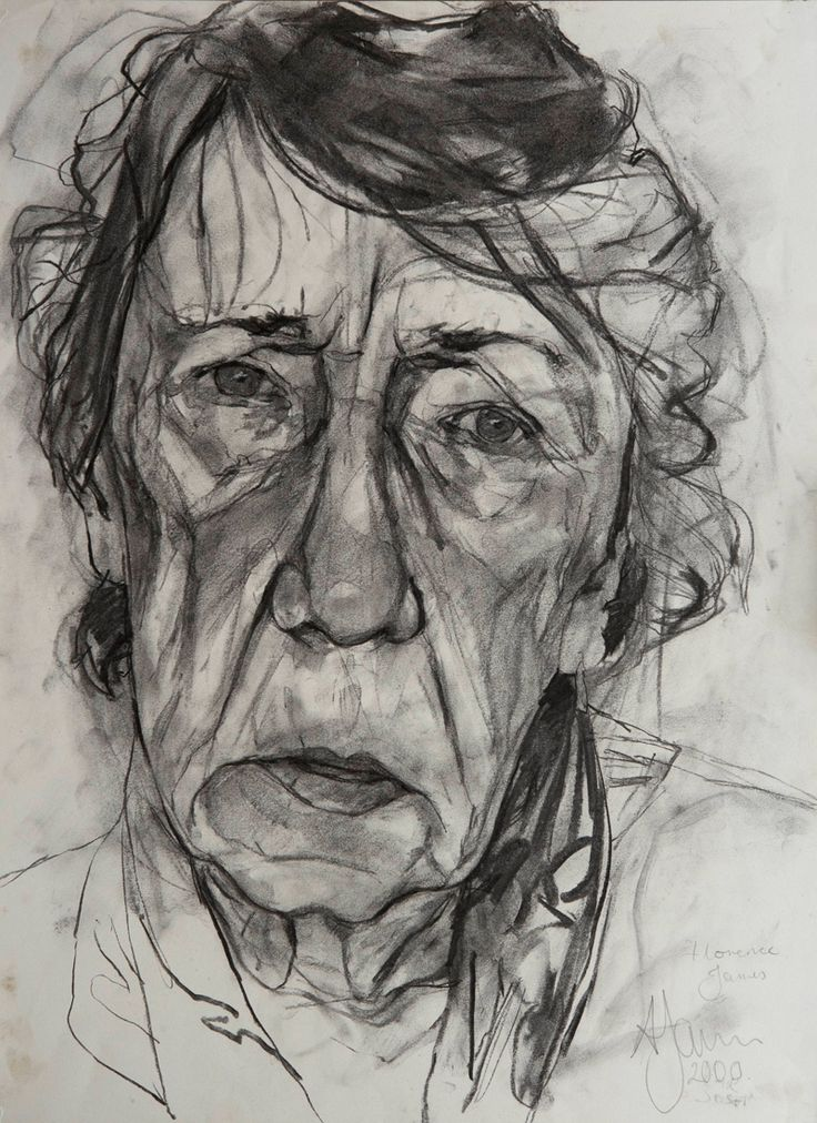Andrew James 'Florence'  2000  Charcoal on Paper  18 x 14 / 46 x 36 Art Curator & Art Adviser. I am targeting the most exceptional art! Catalog @ http://www.BusaccaGallery.com