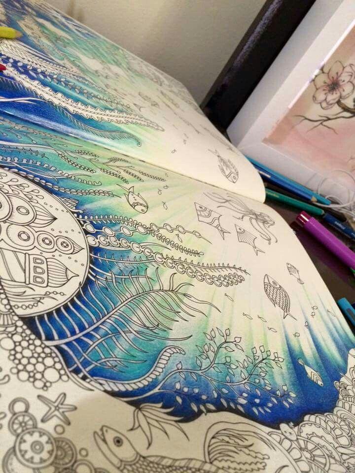 55 best Oceano perdido images on Pinterest | Adult coloring ...