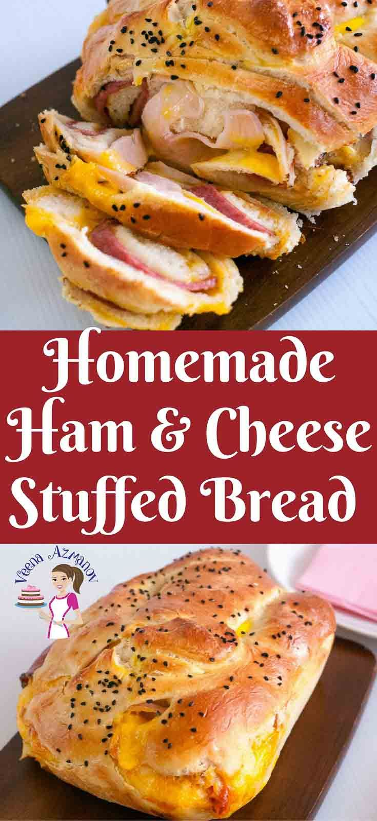 Fresh homemade ham and cheese stuffed bread is an absolute treat to wake up to on any day of the week especially on a a long weekend when you feeling lazy. This dough is simple, easy and effortless to bring together. A little planning in advance and breakfast or snack is as easy as pie.