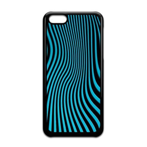 Blue Stripes Op Art by jacqi