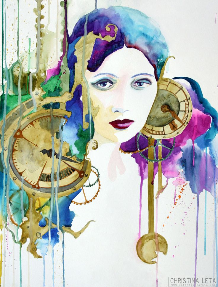 Absosultely <3/ gypsy time bomb by defectivebarbie traditional art paintings portraits by Christina Leta on deviantart.com ...
