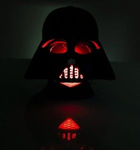 Black 3D Darth Vader 16cm Star Wars Mood Light This light will make any Starwars fan happy. It has a plastic matte finish and requires 3 AAA batteries. The energy efficient 5 LEDS produce a soft glowing light that will ease you into a deep sleep.  http://awsomegadgetsandtoysforgirlsandboys.com/awesome-gadgets-for-guys/ Awesome Gadgets For Guys: Black 3D Darth Vader 16cm Star Wars Mood Light