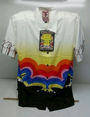 Rare Vintage MAMBO LOUD Shirt Rainbow Surf Design Size L New Old Stock With Tags