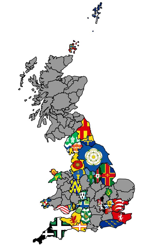 UK County Flag Map | British County Flags