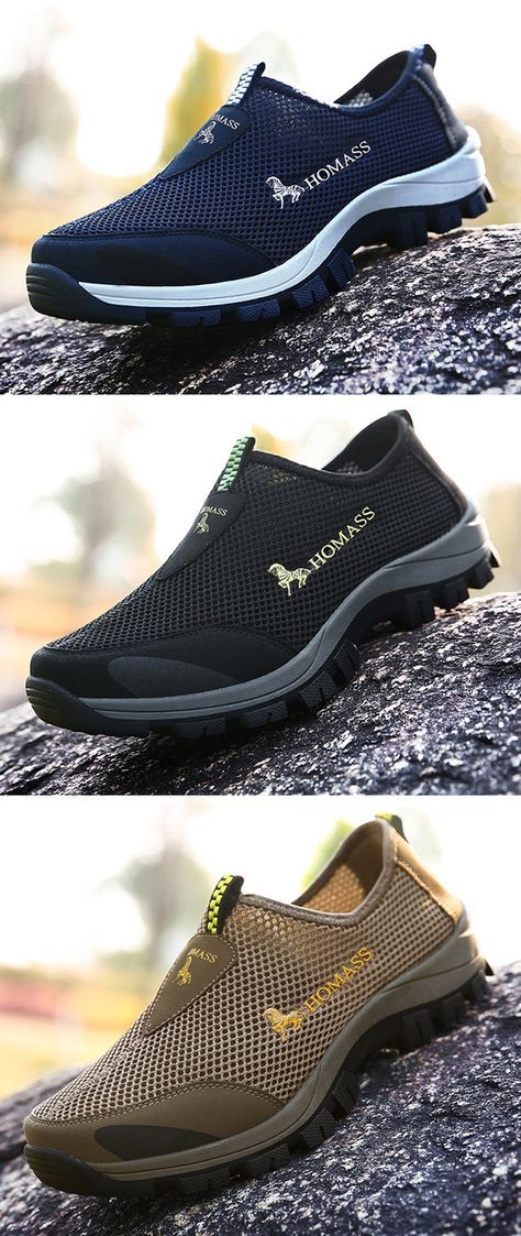7dcfc45ef5b  US 24.98 53%OFF--Mens Breathable Mesh Fabric Wear-resistant Sneakers outdoor   outdoors  sports  casual  shoes
