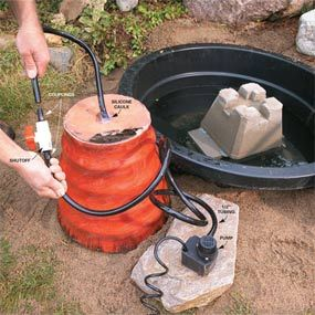 Build a compact, yet attractive fountain and pond using simple off-the-shelf materials for less than $200. And complete it in one day! It'll spruce up your backyard.