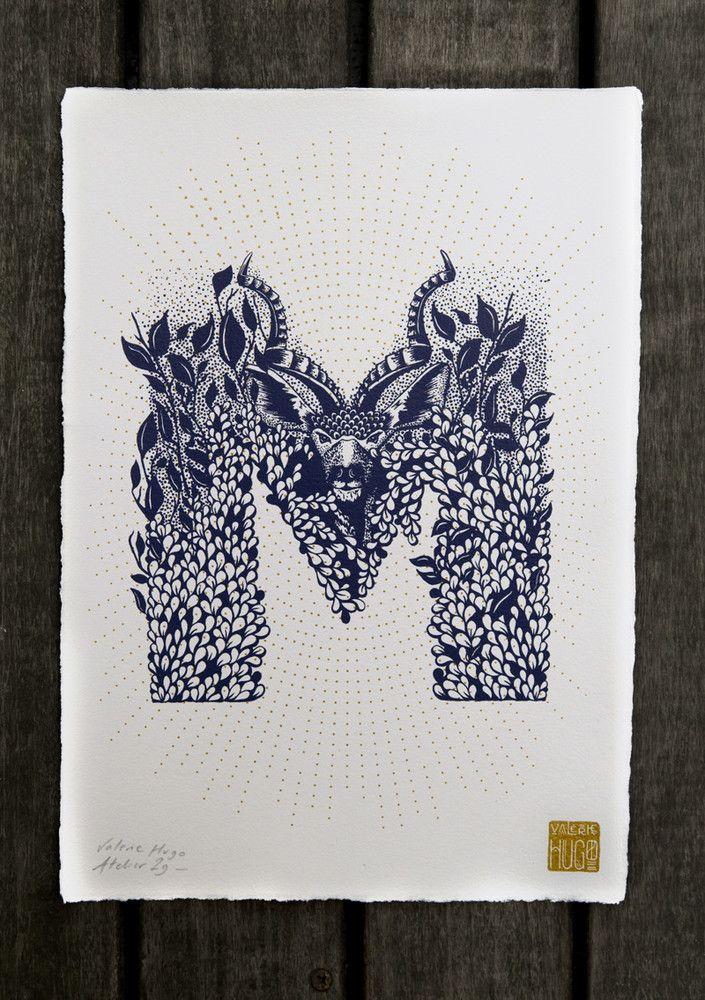 L'artiste Valérie Hugo a allié ses deux passions, illustration et graphisme, en dessinant cet alphabet à l'occasion de son exposition à la Slow Galerie...