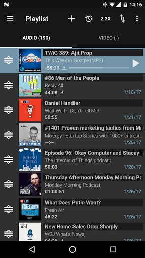 Podcast & Radio Addict v3.43.2 build 1238 [Donate]   Podcast & Radio Addict v3.43.2 build 1238 [Donate]Requirements:4.0.3Overview:Podcast Addict is the #1 Podcast App on Android with 5M downloads 200K reviews and an average rating of 4.6/5  Podcast Addict allows you to manage Podcasts Radio on Demand Audio books Live stream radios YouTube channels/playlists and RSS News feeds from a single app.  Getting started:http://bit.ly/startGuide Bugs & Suggestions:http://bit.ly/pAddict Contacts…
