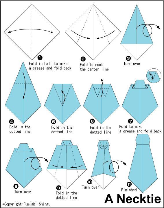 Necktie - Easy Origami instructions For Kids