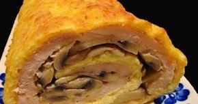 Składniki:2 duże piersi kurczaka (podwójne)4 jajka1/2 szklanki majonezu60 dkg pieczarek40 dkg sera żółtego startego na grubych oczkachWykonanie:Jajka roztrzepać, dodać majonez, żółty ser i wymieszać. Blachę (taką od piekarnika) wyłożyć papierem ...