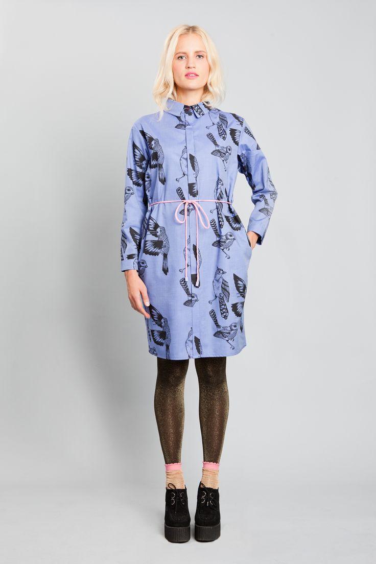 BIRD SHIRT DRESS