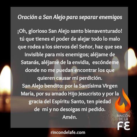 Conoce la oración a San Alejo para alejar enemigos. Pídele en tus oraciones cristianas para que te proteja de la maldad de quienes son guiados por Satanás.