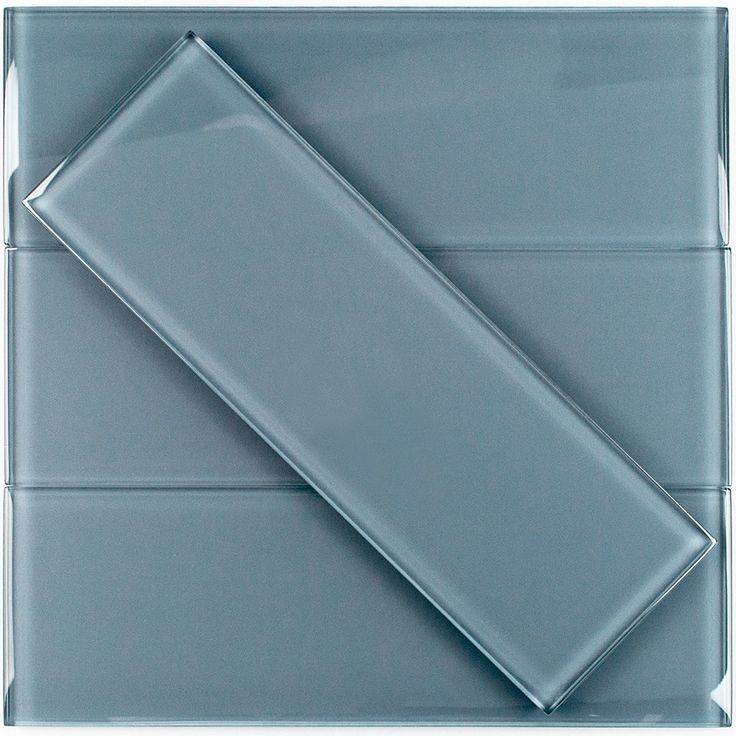 Loft Blue Gray 4×12 Polished Glass Tile