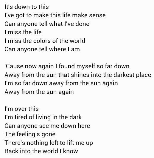 Away From The Sun 3 Doors Down