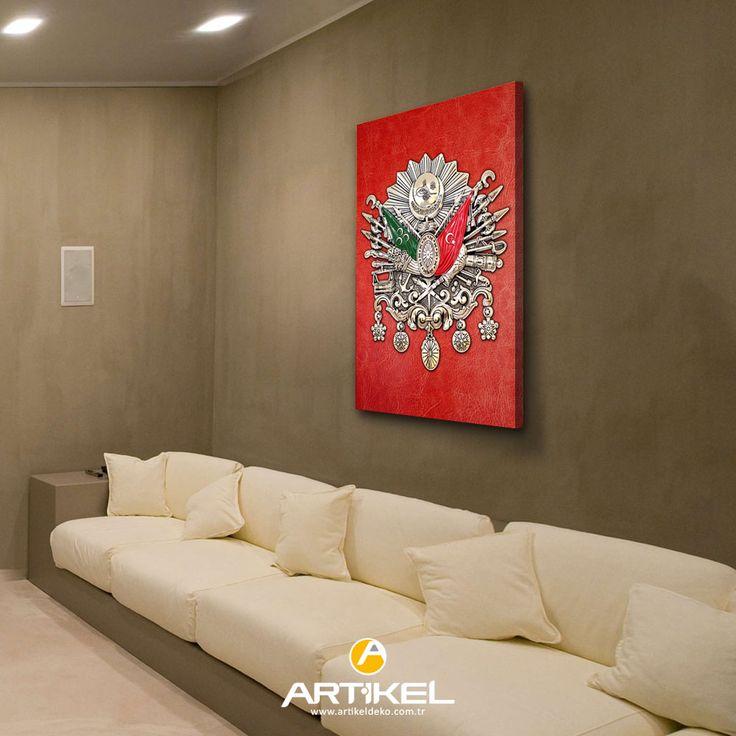 """Yeni kanvas tablo modelimiz """"Osmanlı Tuğrası"""" 50x70 cm stoklarımızda! #yeni #kanvastablo #art #artikeldeko #dekorasyon"""