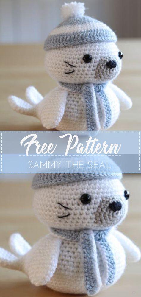 SAMMY THE SEAL – FREE CROCHET PATTERN #amigurumi #crochet #freecrochetpattern #crochetlove #diy #tutorialcrochet #videocrochet #pattern