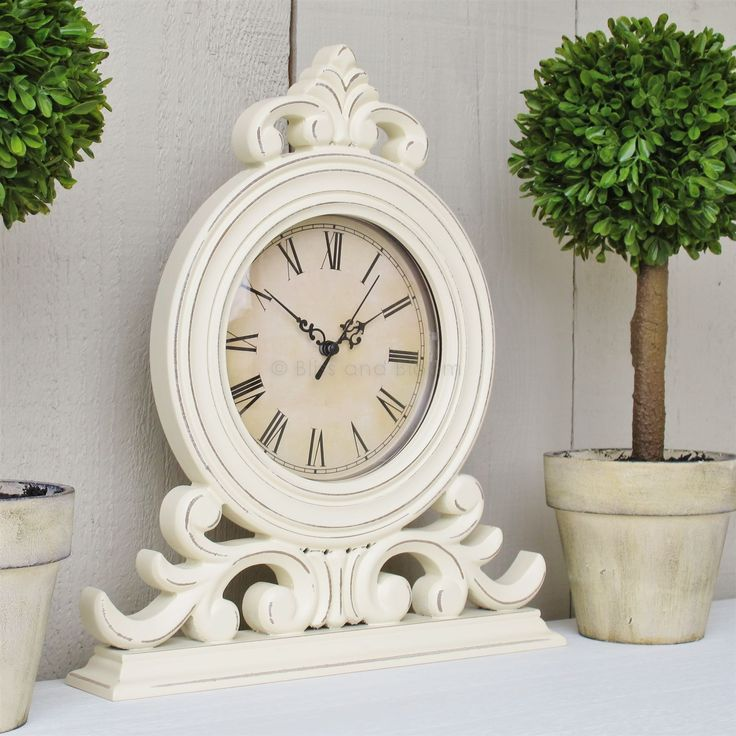 Cream mantel clock French style from blissandbloom.co.uk