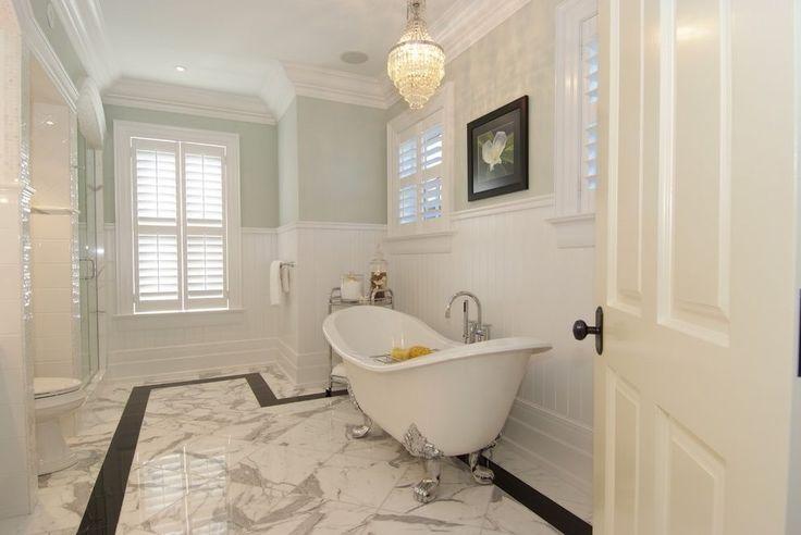high wainscoting bathroom victorian with clawfoot tub bathtub faucets