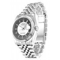 Rolex Datejust Black Silver Dial Mens Replica Watch 116234