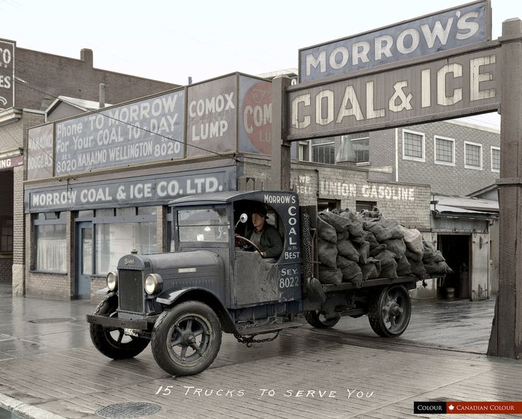 Morrow's Coal and Ice Company on Main Street, Vancouver in 1931
