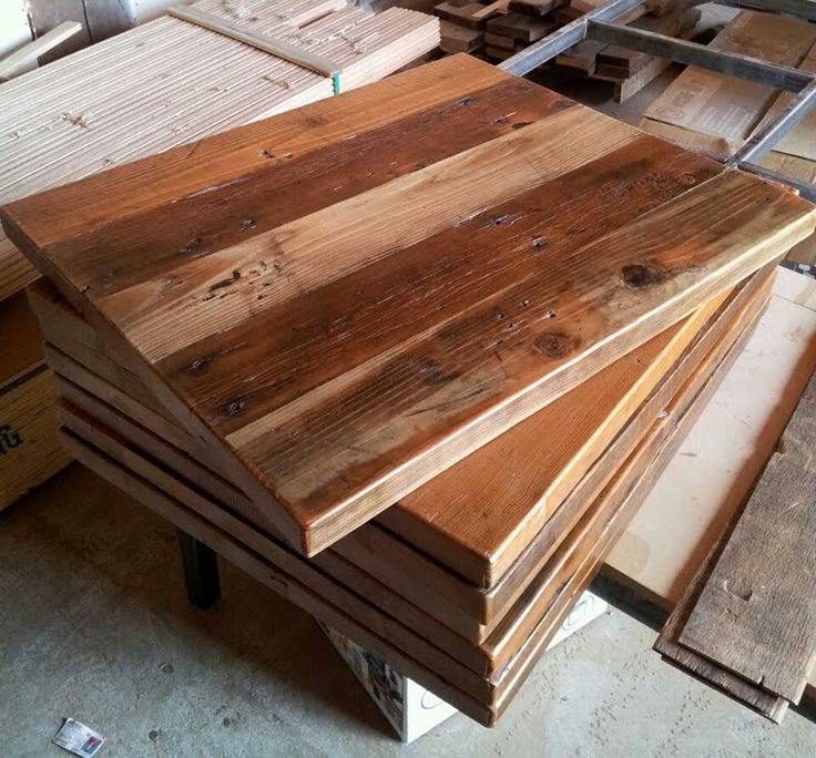 Custom Tables Reclaimed Wood Table Tops Pinterest