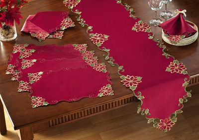 Deck the Halls Holiday Table Linens
